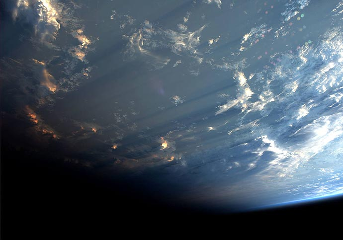 Облака с орбиты - фотографии астронавта Александра Герста