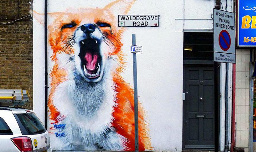 Гигантские животные Irony & Boe на улицах Лондона