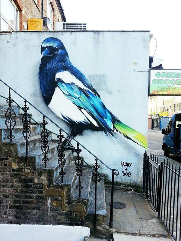 Работы дуэта Irony & Boe на улицах Восточного Лондона