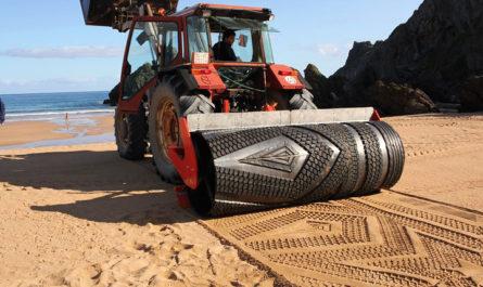 Знак на песке - искусство Гуниллы Клингберг