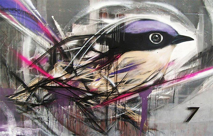 Орнитология уличного художника из Бразилии L7m