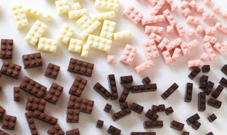 Съедобный конструктор Lego дизайнера Akihiro Mizuuchi, сделанный из шоколада