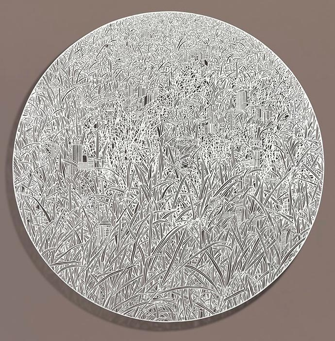Резьба по рисовой бумаге Bovey Lee