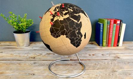 Пробковый глобус для заметок Chiaki Kawakami