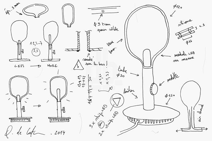Современная аргандова лампа Quentin de Coster
