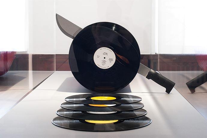 Cutting Records - колбаса из виниловых дисков David Rinman