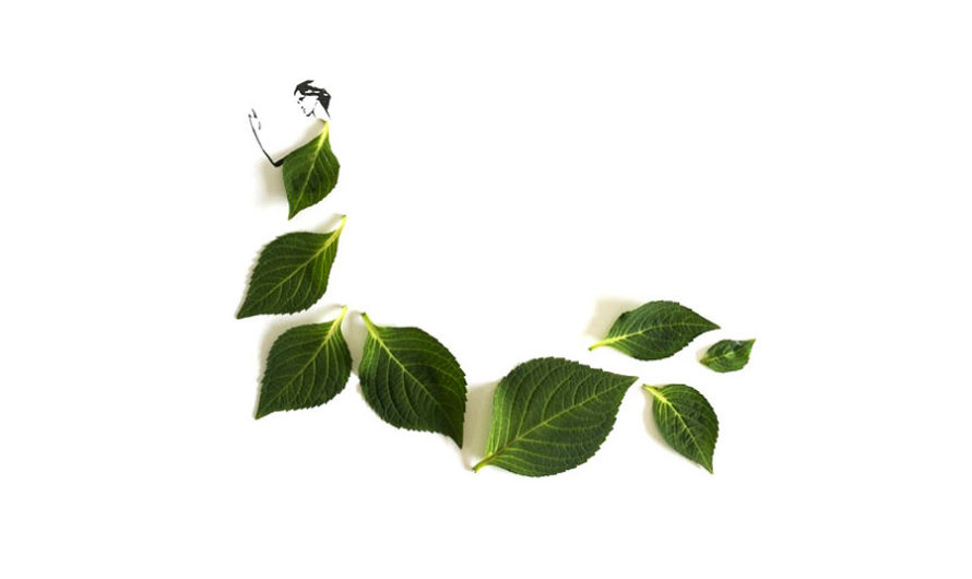 Мода и листья Tang Chiew Ling