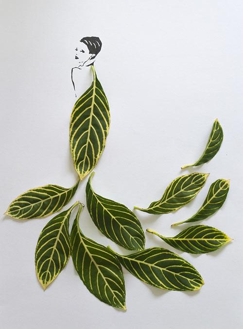 Мода в листьях Tang Chiew Ling
