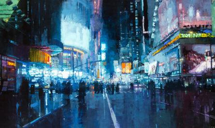 Городские пейзажи на живописных полотнах Джереми Манна (Jeremy Mann)