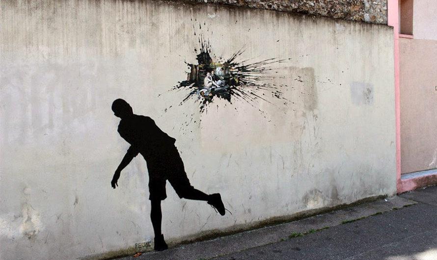Визит в Париж : Стрит-арт Pejac