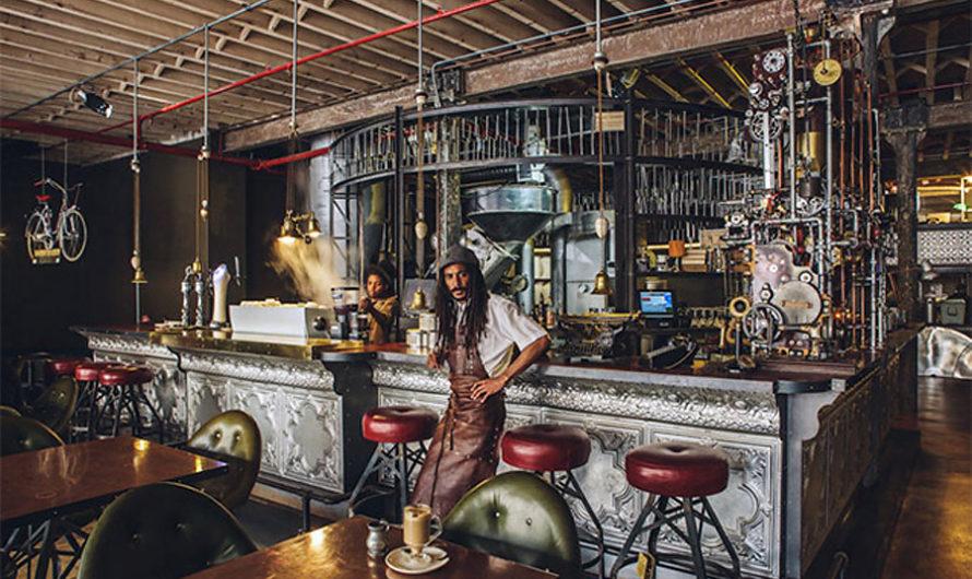 Стимпанк-кофейня в Кейптауне
