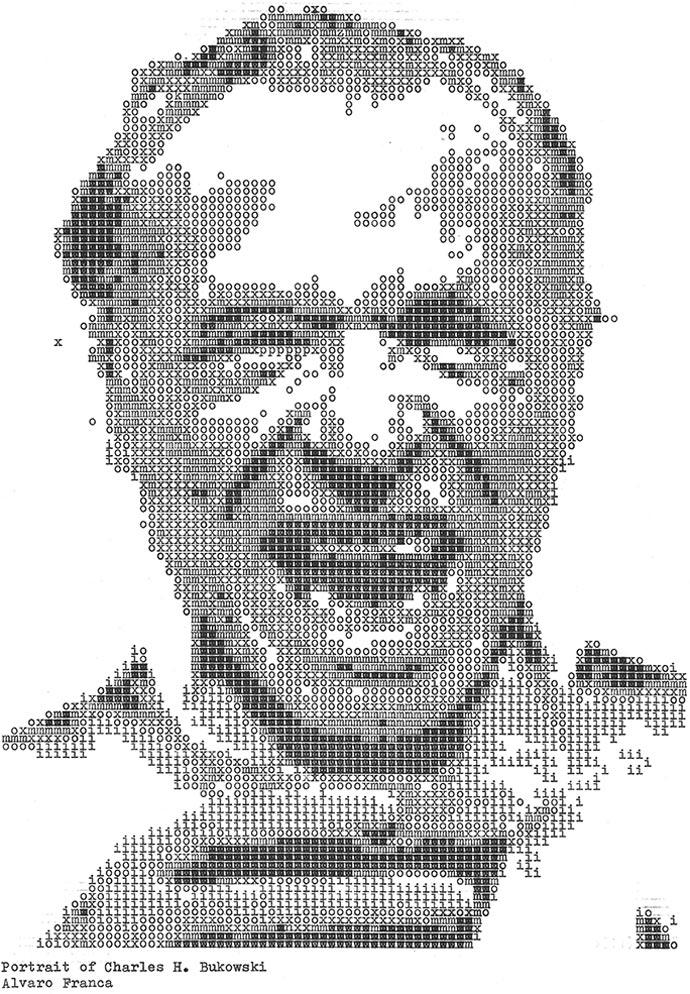 Чарльз Буковски. «Typewritten Portraits» - Машинописные портреты Alvaro Franca