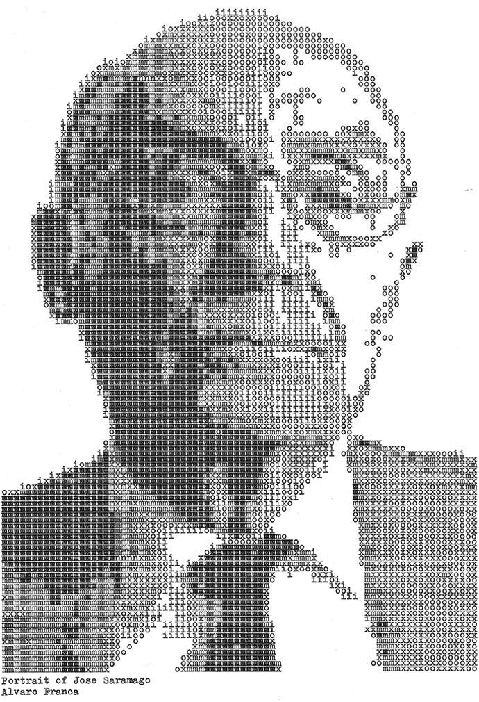 Жозе Сарамаго. «Typewritten Portraits» - Машинописные портреты Alvaro Franca