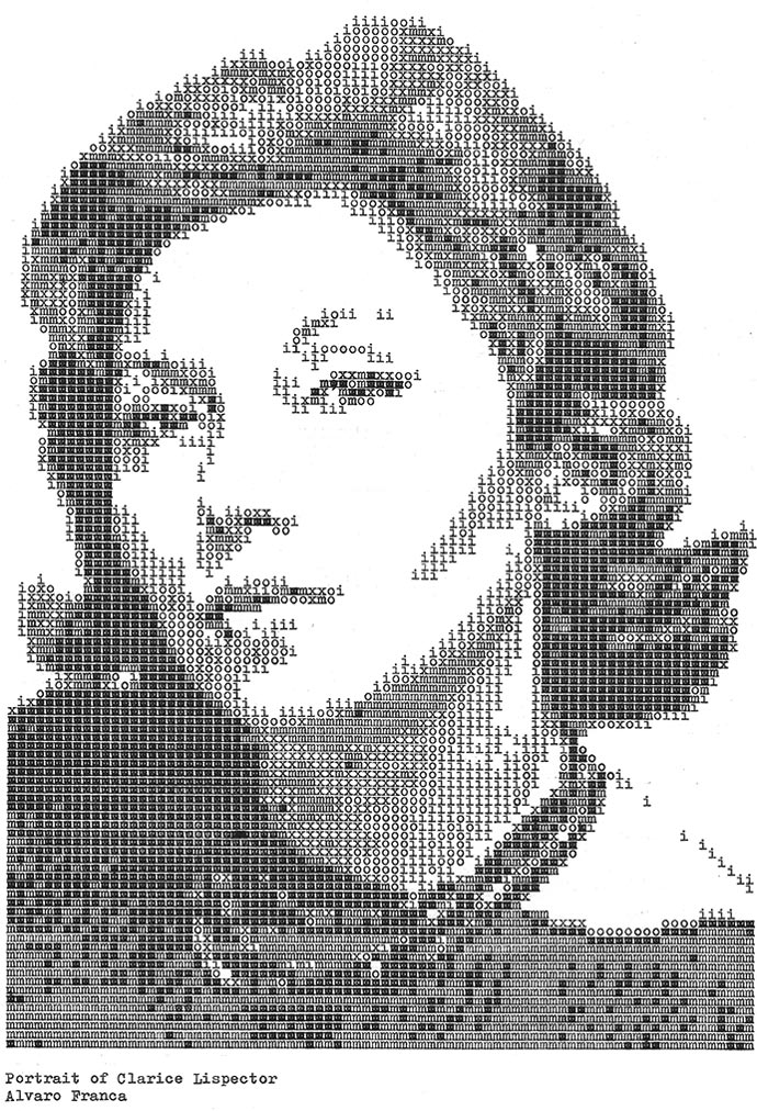 Клариси Лиспектор. «Typewritten Portraits» - Машинописные портреты Alvaro Franca