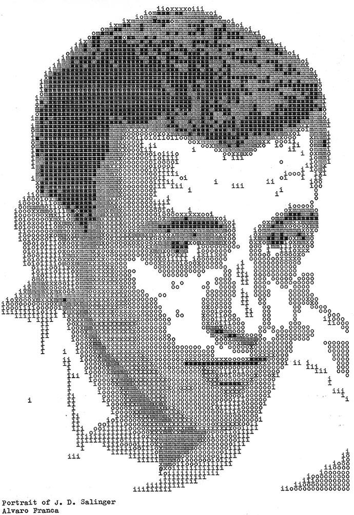 Джером Дэвид Сэлинджер. «Typewritten Portraits» - Машинописные портреты Alvaro Franca