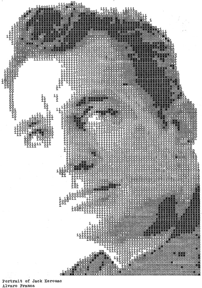 Джек Керуак. «Typewritten Portraits» - Машинописные портреты Alvaro Franca