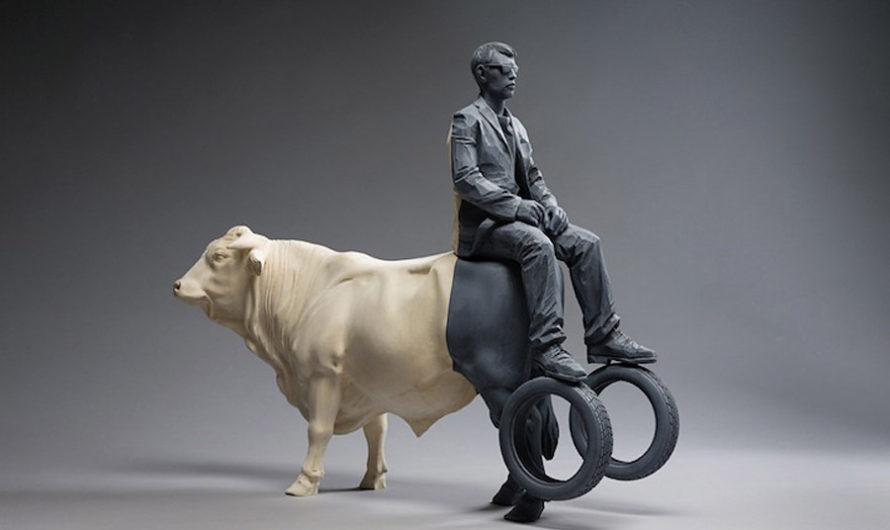 Парадоксальная скульптура Willy Verginer
