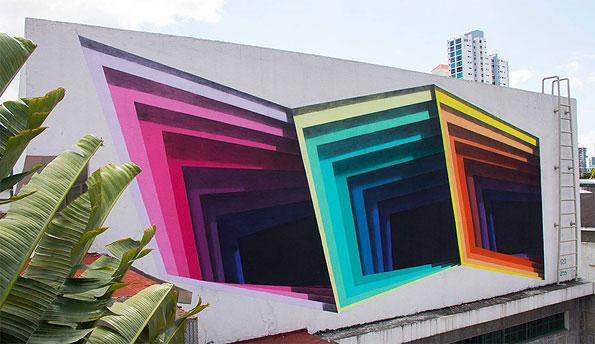 Сквозь стену – стрит-арт порталы 1010