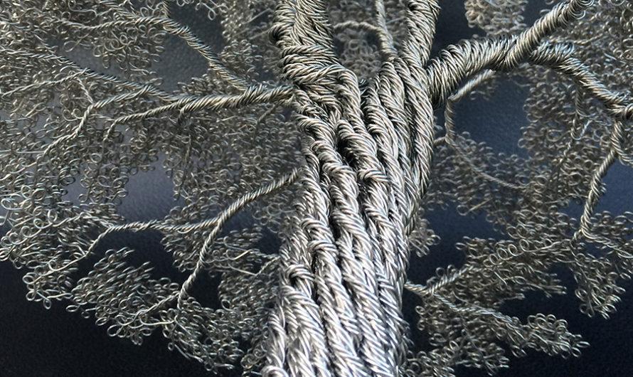 Деревья, сплетённые из проволоки : Скульптора Clive Madison
