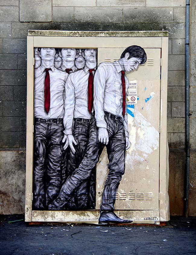 Работы уличного художника Levalet