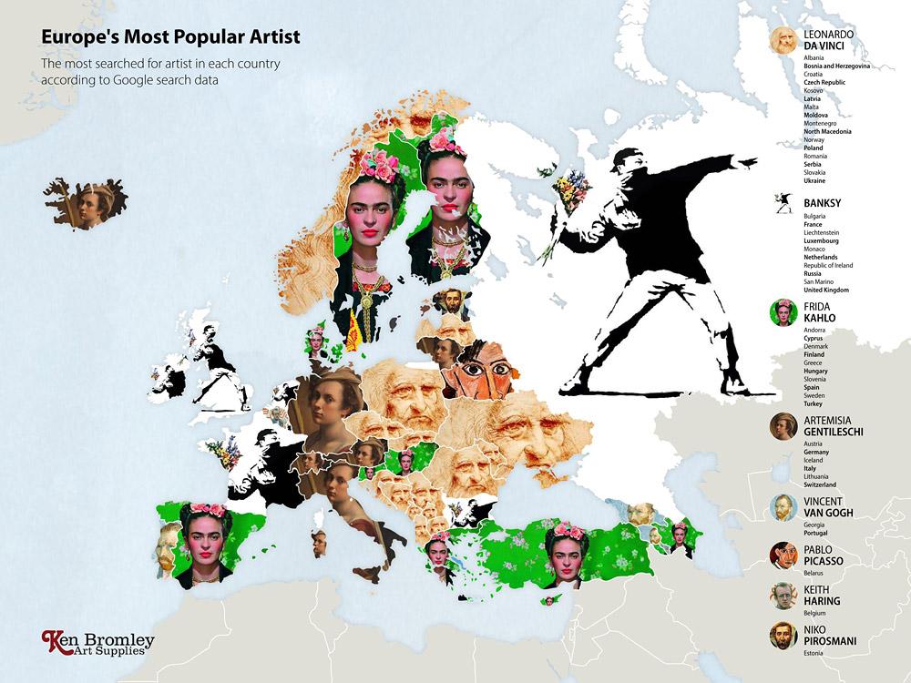Европа. Мировые рейтинги художников в эпоху пандемии