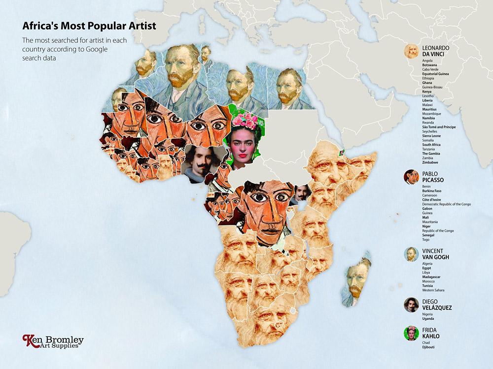 Африка. мировые рейтинги художников в эпоху пандемии
