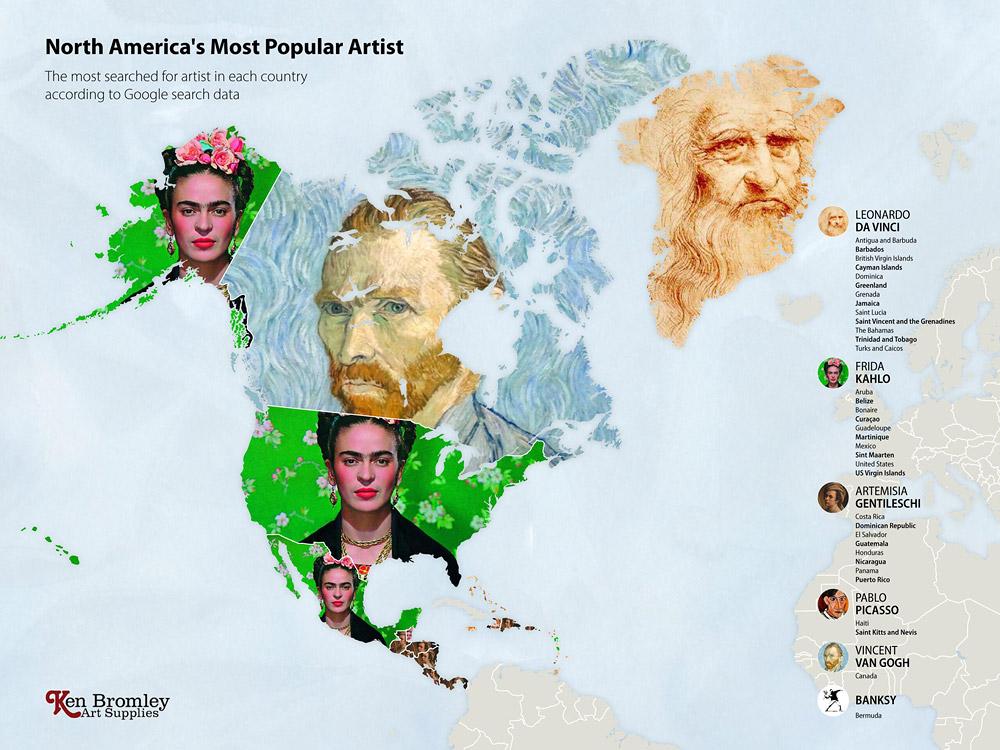 Северная Америка. Мировые рейтинги художников в эпоху пандемии