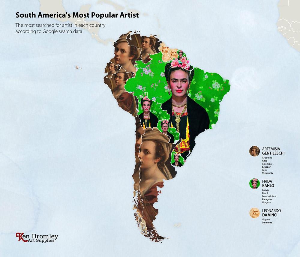Южная Америка. Мировые рейтинги художников в эпоху пандемии
