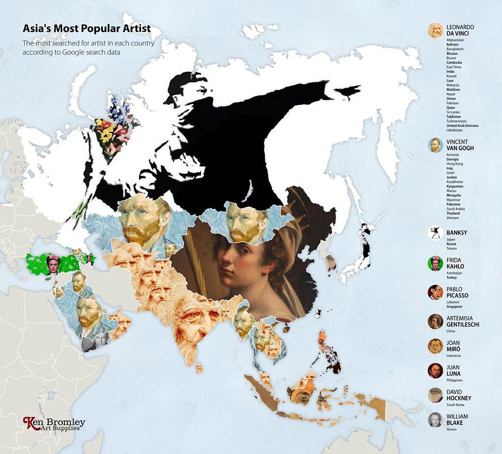 Азия. Мировые рейтинги художников в эпоху пандемии
