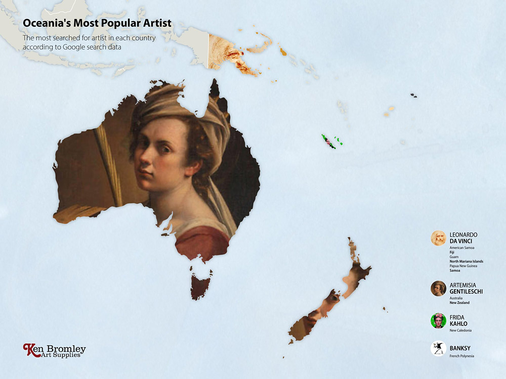 Австралия и Океания. Мировые рейтинги художников в эпоху пандемии