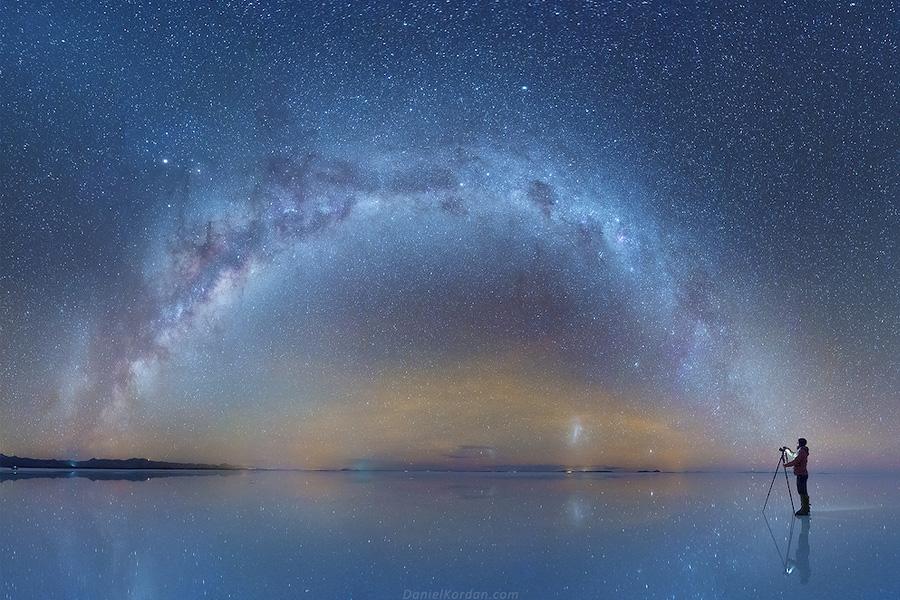 Млечный Путь над солончаком Уюни