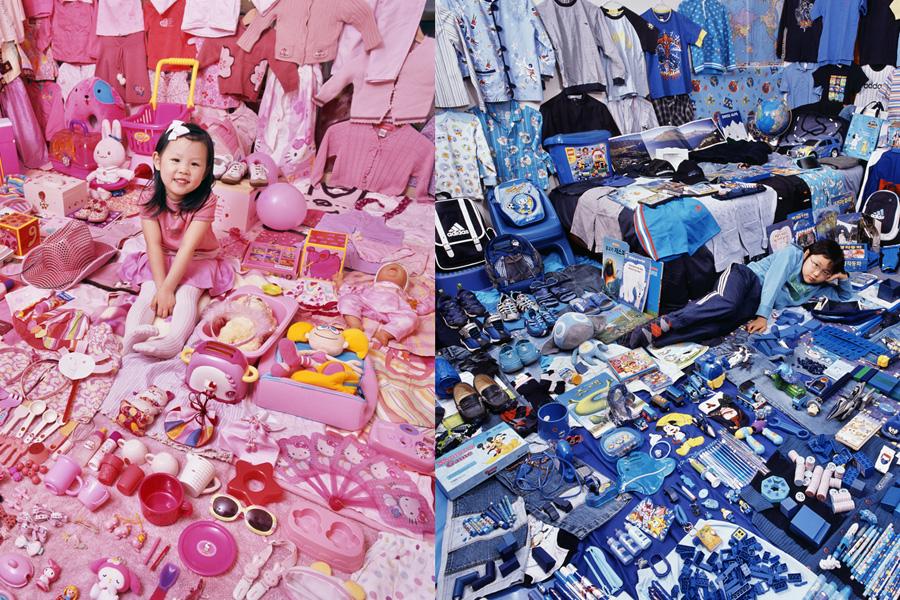 Розовое и голубое в проекте фотографа JeongMee Yoon