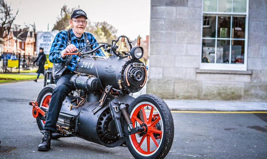 Паровой мотоцикл «Черная Жемчужина» из Нидерландов
