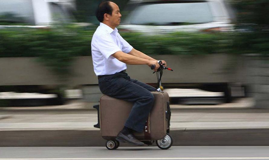 Самодвижущийся чемодан He Liangcai