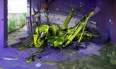 Живописные инсталляции Bordalo II, созданные из уличного мусора