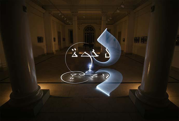 Световая каллиграфия Julien Breton