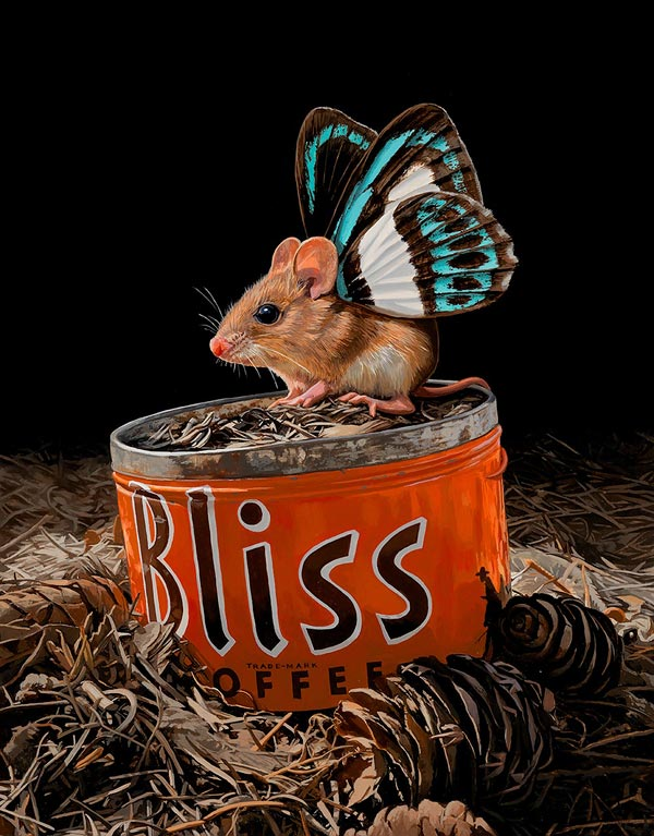 Мыши-бабочки на живописных полотнах Lisa Ericson