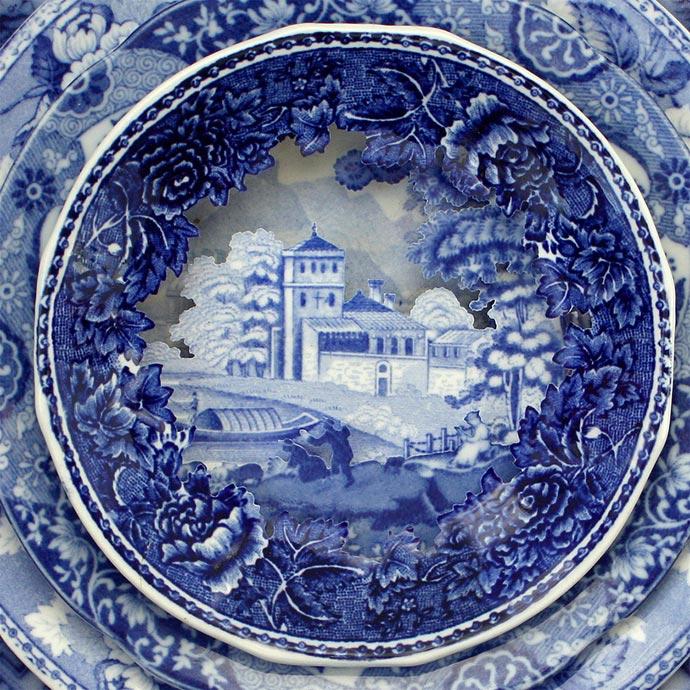 Керамические пейзажи из предметов старых сервизов Каролины Слотте