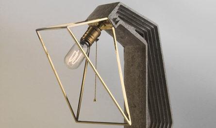 Настольная лампа из бетона и металла дизайнеров Daevas studio