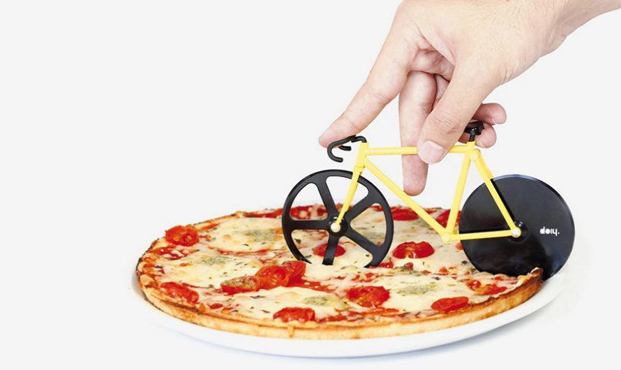 Переехать пиццу : Нож-велосипед студии Doiy