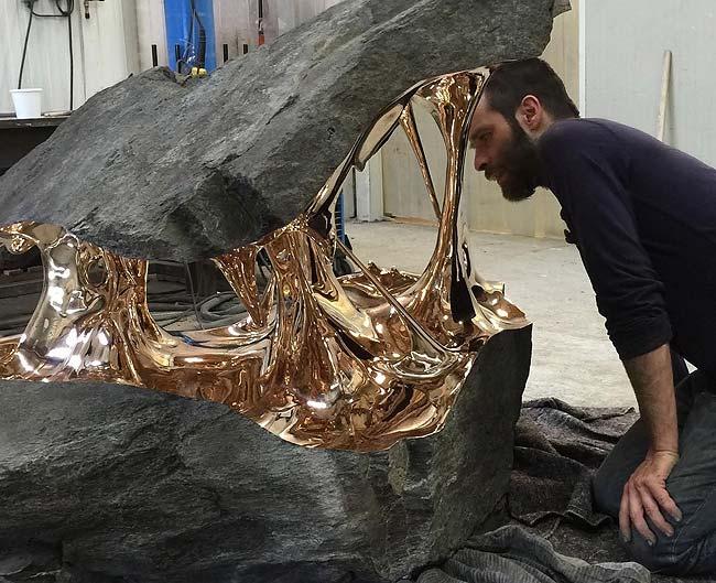 Трансформации скульптора Romain Langlois - камень и бронза