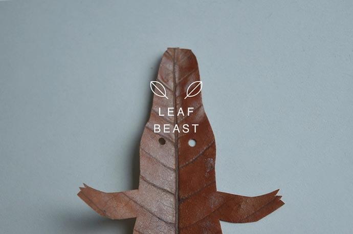 Странные животные из листьев магнолии дизайнера Baku Maeda