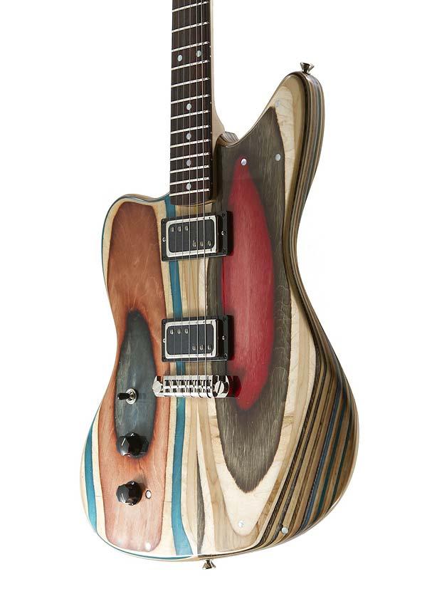 «Prisma Guitars» : Гитары из старых скейтбордов Nick Pourfard