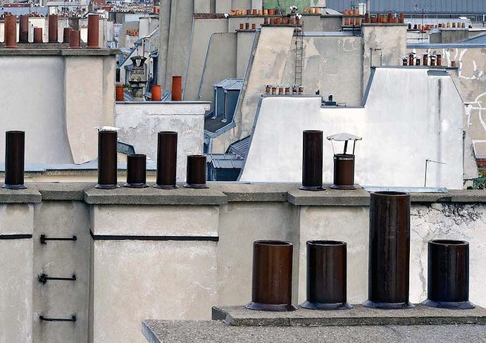 Крыши Парижа на фотографиях Michael Wolf