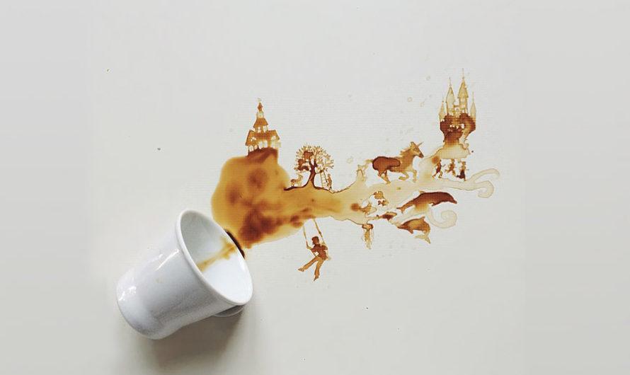 На кофейной гуще : Работы итальянской художницы Giulia Bernardelli