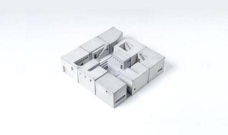 Бетонные кубики-конструктор студии Material Immaterial