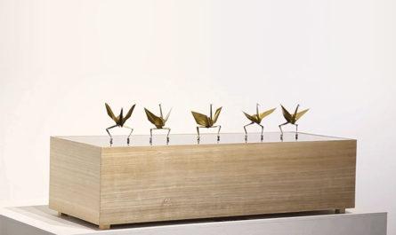 Танцующие бумажные журавлики японского дизайнера Ugoita