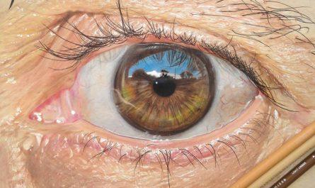 Гиперреалистические рисунки глаз Redosking