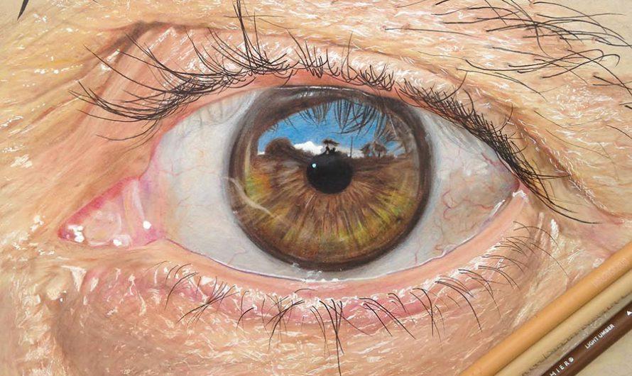 Окулография : Гиперреалистические рисунки глаз Redosking
